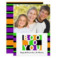 Boo To You Halloween Photo Card - invitations custom unique diy personalize occasions