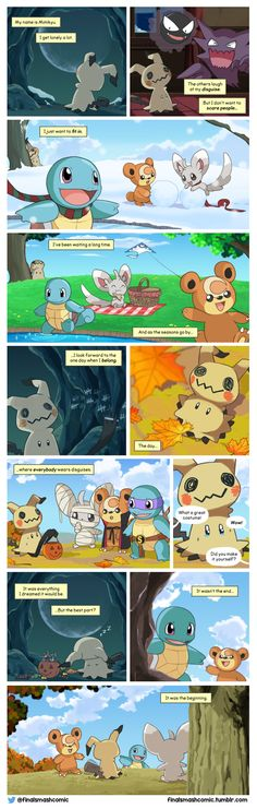 I saw this comic, and it is adorable. Mimikyu is awesome.