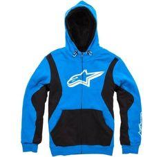 M Alpinestars Freeman Zip Fleece Hoody Blue