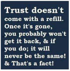Trust is important