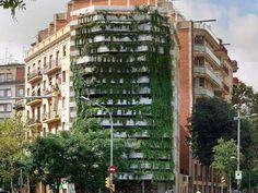 Vegitecture: jardim vertical projetado pela firma Capella Garcia em Barcelona