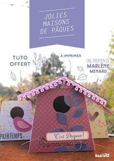 Quoi ? Vous aussi vous adorez les petits cadeaux à télécharger ? Ça tombe bien, c'est le jour du freebie printable ! Après le tuto mini-album déstructuré, voici les jolies maisons de Pâques ! Elles...