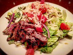 If you must #salad then #steaksalad @centrodsm #centrodsm #flanksteak #woodfired #desmoines #iowa #CheapEats @cookingchannel @foodnetwork Steak Salad, Flank Steak, Food Network Recipes, Iowa, Spaghetti, Beef, Cooking, Ethnic Recipes, Skirt Steak