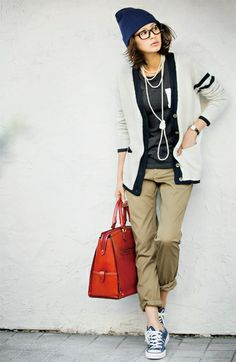 Fashion collection[ファッションコレクション]|ミルブロウズ ラフシルエットで重ね着に使える プレッピー