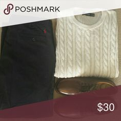 Navy Polo Pants Preston Pant.  Waist 36.  Inseam 32.  Excellent condition. No rips, stains, or imperfections.   Smoke free house. Polo by Ralph Lauren Pants