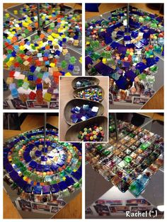 "Mosaic tiles on the mirror box - from Rachel ("",)"