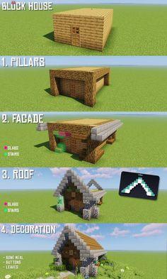 Minecraft World, Minecraft House Plans, Minecraft Houses Survival, Minecraft Cottage, Easy Minecraft Houses, Minecraft House Tutorials, Minecraft Houses Blueprints, Minecraft Room, Minecraft House Designs