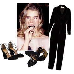 in the velvet darkness of the blackest night by rodartegrl on Polyvore featuring Fendi and Hermès