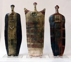 Ceramic figures by Theodoros Papagiannis