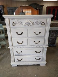 "Check out this cute chest of drawers. Perfect for those rooms that need storage but they don't have a lot of space. What do you think?  The dimensions are 38"" L, 18"" W, 52"" H. SOLD!! for $375"