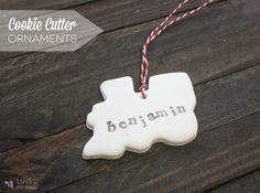 Cookie cutter clay ornaments made with polymer.
