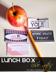 Eye Candy Creative Studio: DEBUT :: Lunch Box love Notes