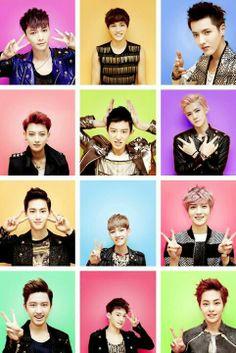 EXO (with former members Kris, Tao, and Luhan) Tvxq, Btob, Shinee, K Pop, Kim Jong Dae, Exo 12, Chanyeol Baekhyun, Kim Minseok, Xiuchen