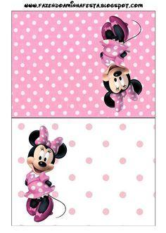 Minnie Rosa - Kit Completo com molduras para convites, rótulos para guloseimas, lembrancinhas e imagens! - Fazendo a Minha Festa