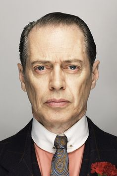 """steve buscemi by christian weber, of """"Boardwalk Empire,"""" the Prohibition themed HBO series. Little known fact about Buscemi, he is a former NYFD firefighter who even with a acting career, he went back to firefighting after Steve Buscemi, Foto Portrait, Portrait Photography, Boardwalk Empire, Catherine Deneuve, Celebrity Portraits, Celebrity Photography, Best Actor, Hollywood Glamour"""