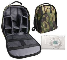 Camouflage backpack/rucksack for #canon #powershot elph #360hs camera w/ rain cov,  View more on the LINK: http://www.zeppy.io/product/gb/2/141880567548/