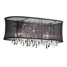 Dainolite 85324W 4 Light Crystal Vanity Sconce with Oval Organza Shade - Lowe's Canada