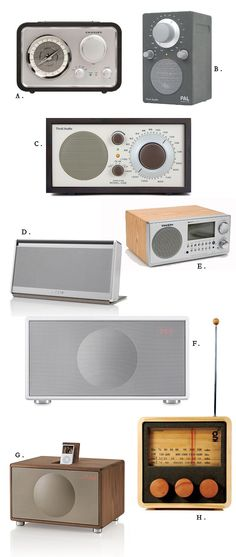 Beautiful home radios (you'll never have to look for an iphone charge again!)