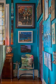 Art on walls: Brian & Emily's Art-Filled New Orleans Home