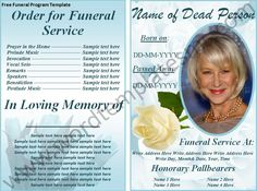 Free Print Funeral Brochures | Free Funeral Program Template Download Page | MS Word Templates