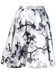 Pierre Balmain - printed a-line skirt