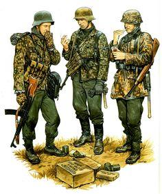 Waffen SS - Ardenne, 1944 -  Poteau, 18  dicembre; 2.ª Kompanie, SS-Panzergrenadier-Regiment 1. - Ron Volstad