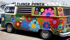Flower power van