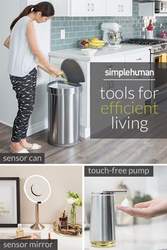 Want a home that simply runs smarter? Simplehuman has the products you need to do just that -- a trash can with motion sensor, a mirror that lights up as you approach and a sleek touch-free soap dispenser. Upgrade your home at simplehuman.com.