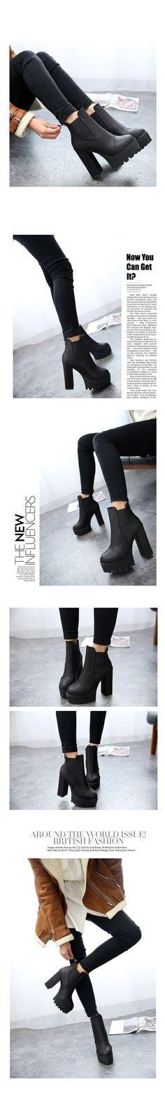 Nouveaux talons épais cheville bottes mode à la cheville mode à talons hauts bottes plate forme bottes martin bottes femmes dans Bottes pour femmes de Chaussures sur AliExpress.com | Alibaba Group