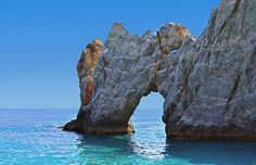 The holey rock in Lalaria beach, Skiathos