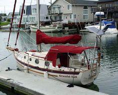 Dana 24 S/V Graceful Exit docked. [Photo courtesy of Laurence Boag]
