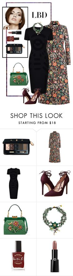 """""""LBD_2"""" by iojeni ❤ liked on Polyvore featuring Christian Dior, RED Valentino, McQ by Alexander McQueen, Massimo Matteo, Dolce&Gabbana, NOVICA, Lauren B. Beauty and Giorgio Armani"""