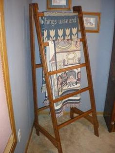Diy Quilt Ladder Crafting Fireplaces And Blanket Ladder