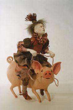 Marlaine Verhelst  Riding a pig  http://marlaineverhelst.com