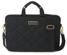 "Marc by Marc Jacobs Crosby Quilt Nylon 13"" Commuter Bag in Black"