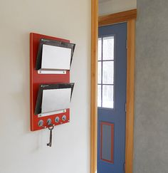 wall organizer TANGO double wall mount mail letter by PIGandFiSH, $98.00