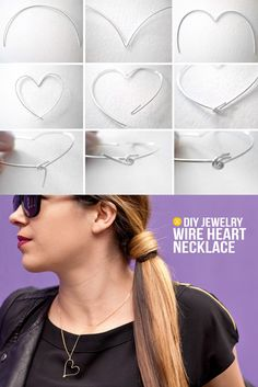 Wire Heart Necklace
