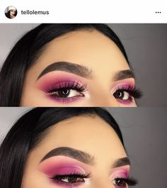 Eye Makeup Tips.Smokey Eye Makeup Tips - For a Catchy and Impressive Look Blue Eyeshadow Makeup, Pink Makeup, Cute Makeup, Eyeshadow Looks, Glam Makeup, Hair Makeup, Eyeliner, Eyeshadow Tumblr, Perfect Makeup
