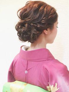 着物で波ウェーブ♪/ヘアセット&メイク専門店Kasumi 【カスミ】をご紹介。2017年春の最新ヘアスタイルを100万点以上掲載!ミディアム、ショート、ボブなど豊富な条件でヘアスタイル・髪型・アレンジをチェック。