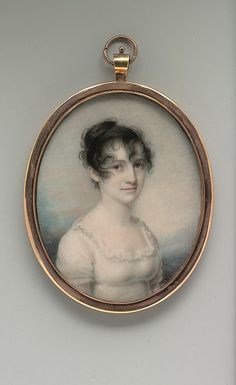 "titam: "" Portrait ca. 1806 - Mrs. Robert Macomb (Mary Cornell Pell) Edward Greene Malbone (1777–1807) - """