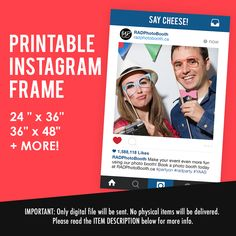 DIY Printable Instagram Frame (DIGITAL FILE!)