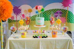 Confetti Fair Lorax lolly buffet sweet dessert cake kids girls birthday party…