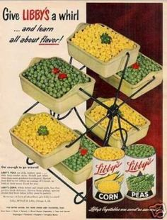 Libby's Vegetables (1952).  The kids would have had a blast with this contraption.