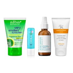 """""""I love Josie Maran Argan Daily moisturizer with SPF 47 for face, Coola sport liplux for lips and Alba Botanic and Erbaviva for body."""" - Rachael Wang"""