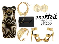 """""""Cocktail Dress:03"""" by shiningpearl08 ❤ liked on Polyvore featuring Posh Girl, Kasturjewels, Oscar de la Renta, Mia Limited Edition and MICHAEL Michael Kors"""