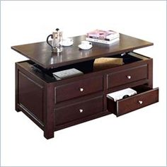 Acme Furniture Malden Lift Top Coffee Table In Espresso 380 Free Shipping With