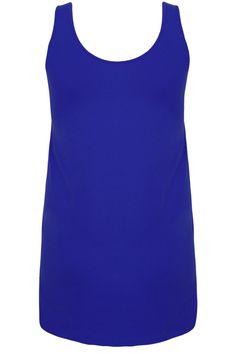Cobalt Blue Longline Vest Top