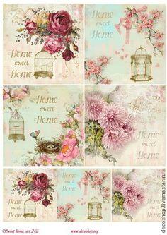 """рисовая бумага для декупажа """"sweet home"""", арт. 242 - рисовая бумага,рисовая бумага с рисунком"""