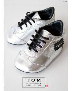 1TOM baby tenisky strieborné /značka Tom