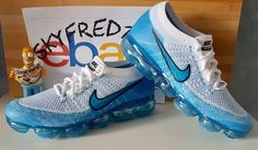 This Nike Air VaporMax Light Blue comes dressed in a North Carolina Tar Heels-like color scheme. The Nike VaporMax debuts in March, this pair is a sample. Nike Fashion, Sneakers Fashion, Milan Fashion, Fashion Men, Runway Fashion, Fashion Models, Running Shoes Nike, Nike Shoes, Shoes Jordans